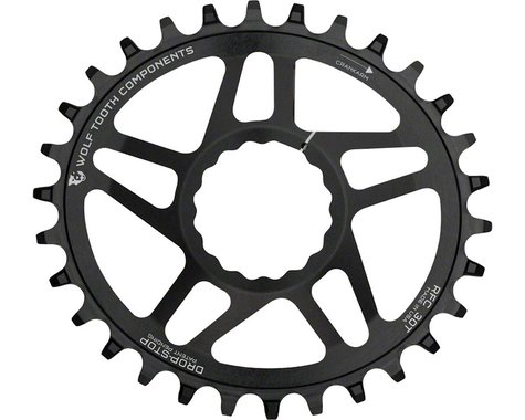 Wolf Tooth Components PowerTrac Drop-Stop Oval Chainring (Black) (Cinch) (6mm Offset) (32T)