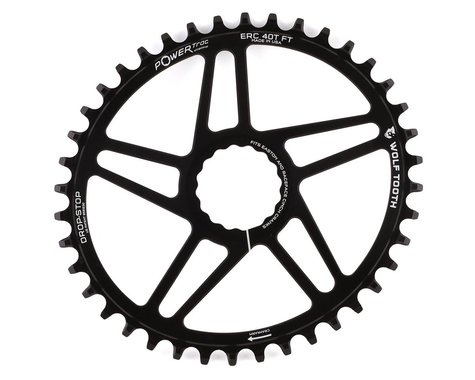 Wolf Tooth Components PowerTrac Drop-Stop Cinch Direct Mount Chainring (Black) (Boost) (40T)