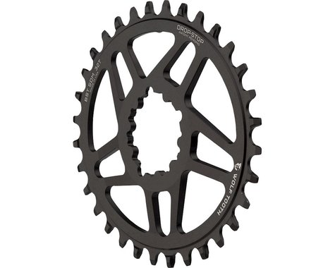 Wolf Tooth Components PowerTrac Drop-Stop GXP Oval Chainring (Black) (6mm Offset) (36T)