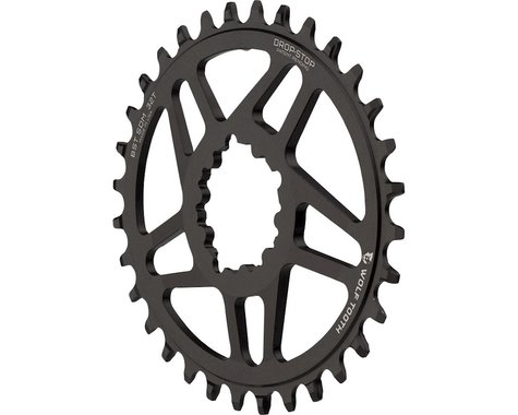 Wolf Tooth Components PowerTrac Drop-Stop GXP Oval Chainring (Black) (6mm Offset) (40T)