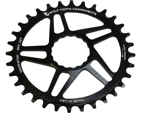 Wolf Tooth Components Drop-Stop Race Face Cinch Chainring (Black) (Boost) (3mm Offset (Boost)) (32T)