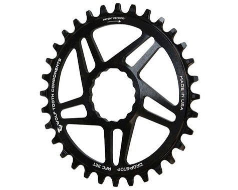 Wolf Tooth Components Drop-Stop Race Face Cinch Chainring (Black) (6mm Offset) (34T)