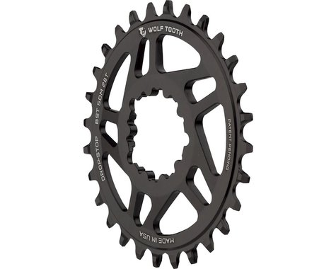 Wolf Tooth Components Sram Direct Mount Drop-Stop Chainring (Black) (3mm Offset) (28T)