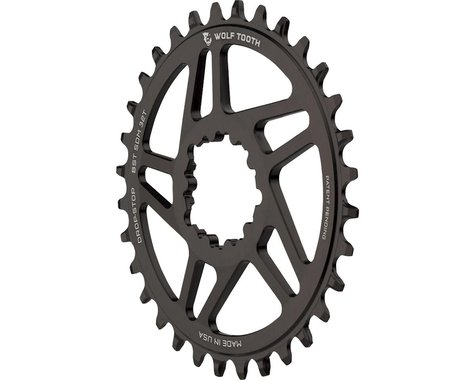 Wolf Tooth Components Sram Direct Mount Drop-Stop Chainring (Black) (3mm Offset (Boost)) (32T)