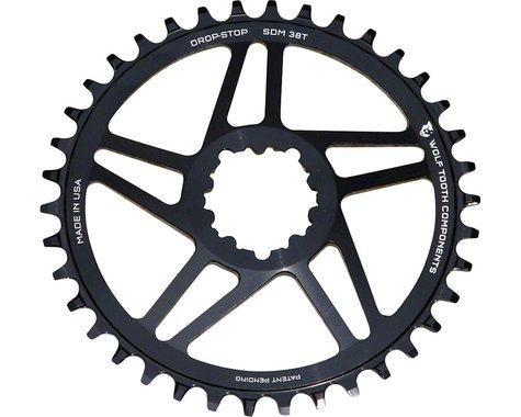Wolf Tooth Components Sram Direct Mount Drop-Stop Chainring (Black) (6mm Offset) (40T)