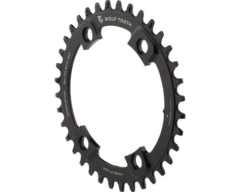 Wolf Tooth Components Drop-Stop Chainring (110mm Asym BCD) (36T)