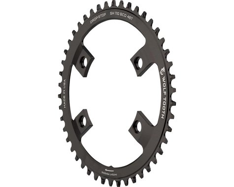 Wolf Tooth Components Drop-Stop Chainring (110mm Asym BCD) (46T)
