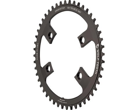 Wolf Tooth Components Drop-Stop Chainring (110mm Asym BCD) (48T)