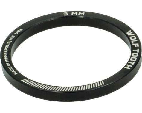 """Wolf Tooth Components 1 1/8"""" Headset Spacers (Black) (5) (3mm)"""