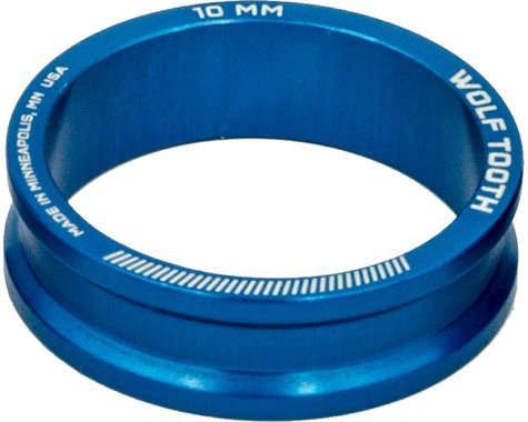 """Wolf Tooth Components 1 1/8"""" Headset Spacers (Blue) (5) (10mm)"""