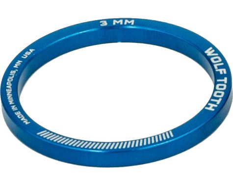 """Wolf Tooth Components 1 1/8"""" Headset Spacers (Blue) (5) (3mm)"""
