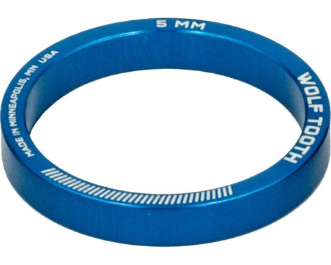 "Wolf Tooth Components 1 1/8"" Headset Spacers (Blue) (5) (5mm)"