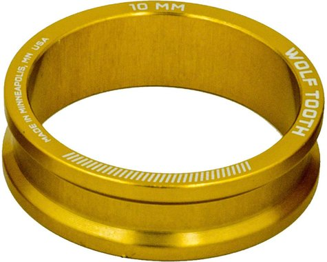 "Wolf Tooth Components 1 1/8"" Headset Spacers (Gold) (5) (10mm)"