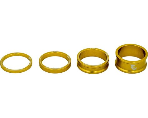"Wolf Tooth Components 1 1/8"" Headset Spacer Kit (Gold) (3, 5, 10, 15mm)"
