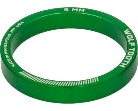 "Wolf Tooth Components 1-1/8"" Headset Spacers (Green) (5) (5mm)"