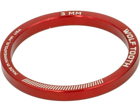 "Wolf Tooth Components 1 1/8"" Headset Spacer (Red) (5) (3mm)"