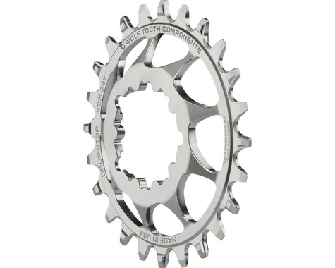 Wolf Tooth Components SST Direct Mount Drop-Stop Chainring (Silver) (6mm Offset) (24T)