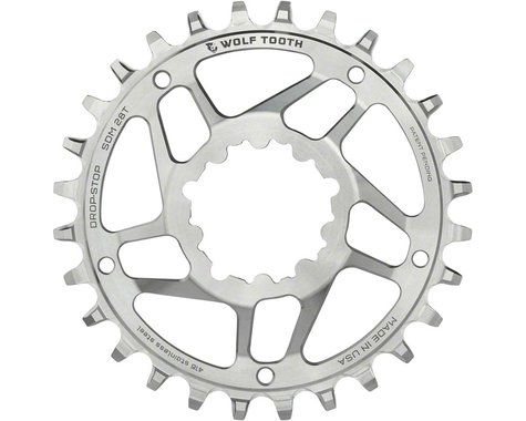 Wolf Tooth Components SST Direct Mount Drop-Stop Chainring (Silver) (6mm Offset) (28T)