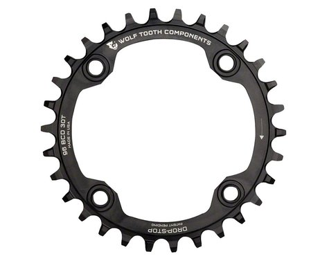 Wolf Tooth Components Drop-Stop Chainring (Black) (32T)