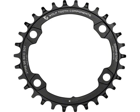 Wolf Tooth Components Drop-Stop Shimano XT 8000 series Chainring (Black) (32T)