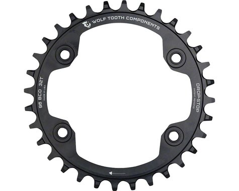 Wolf Tooth Components Drop-Stop Shimano XTR 9000 series Chainring (Black) (96mm BCD) (34T)