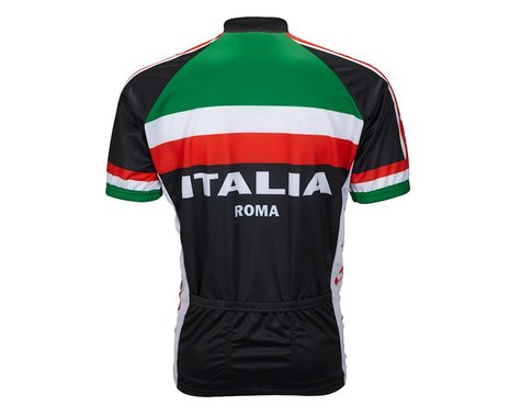 World Jerseys World Jersey Italia Short Sleeve Jersey (Black/Red/White)