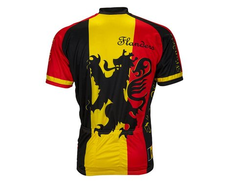 World Jerseys Lion Of Flanders Short Sleeve Jersey (Black/Red)