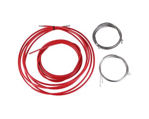 Yokozuna Reaction cable/casing kit, der/brake, rd/mtn - red