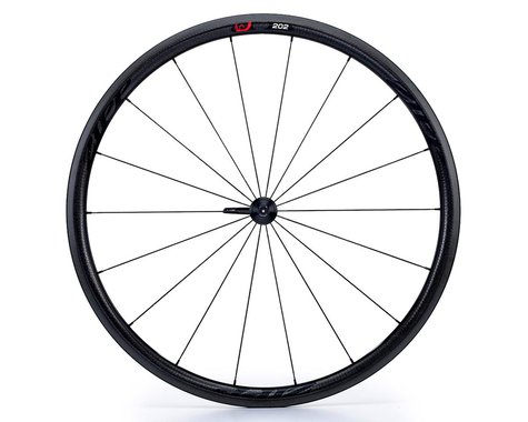 Zipp 202 Firecrest Carbon Clincher Front Wheel (Black Decal) (700c)