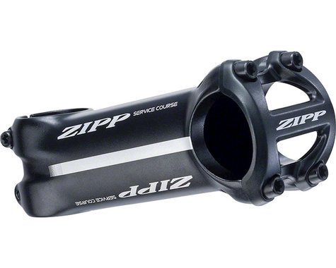 "Zipp Service Course Road Stem (Black/White) (+/- 6°) (1 1/8"") (31.8mm) (70mm)"