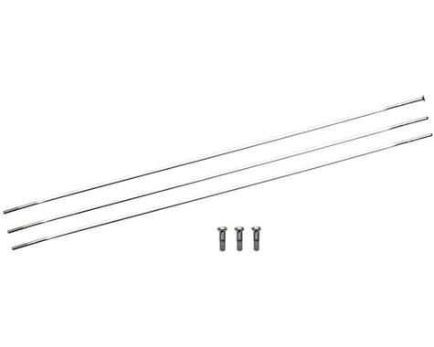 Zipp Sapim Straight Pull CXRay Spokes & Nipples (Silver) (244mm) (3-pack)