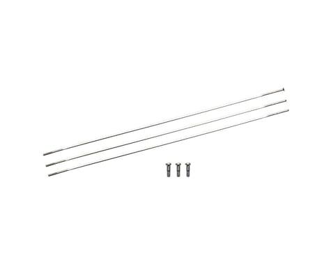 Zipp Sapim Straight Pull CXRay Spokes & Nipples (Silver) (248mm) (3-pack)