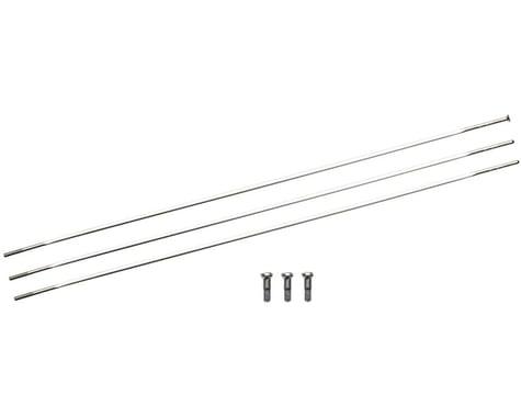 Zipp Sapim Straight Pull CXRay Spokes & Nipples (Silver) (260mm) (3-pack)