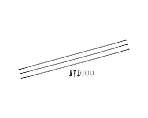 Zipp Sapim Straight Pull CXRay Spokes & Nipples (Black) (260mm) (3-pack)