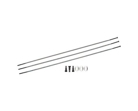 Zipp Sapim Straight Pull CXRay Spokes & Nipples (Black) (270mm) (3-pack)
