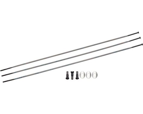 Zipp Sapim Straight Pull Spokes & Nipples (Black) (CX-Ray) (250mm)