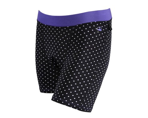 ZOIC Women's Essential Prints Liner Shorts (Black/White)