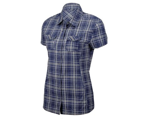 ZOIC Clothing Zoic Women's Collins Plaid Short Sleeve Jersey (Purple) (Large)