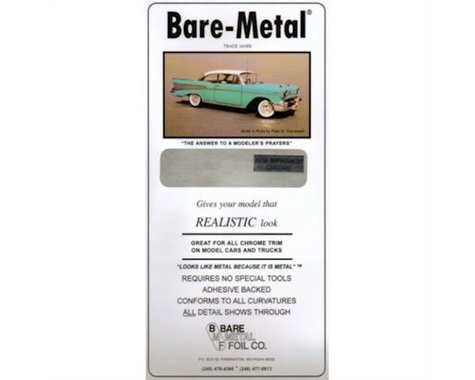 Bare Metal Foil Chrome Bare-Metal 001 Foil Model Car Truck Kit Adhesive