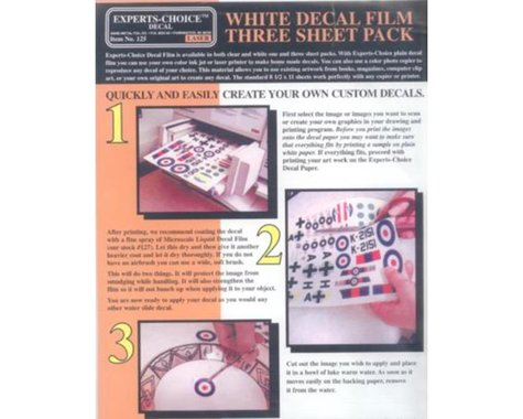 Bare Metal Foil Co 125 Laser White Decal Film 8.5 x 11 - 3 Pack