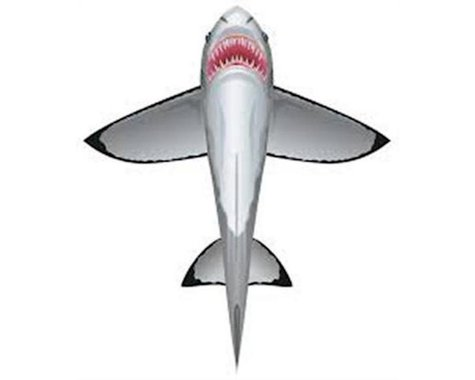 Brain Storm Products WindnSun 70902 SeaLife Great White Shark Nylon Kite-60 Inches Tall
