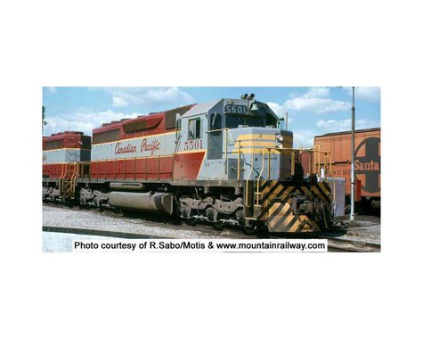 Bowser HO SD40 w DCC & Sound CPR Grey Maroon #5502