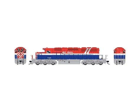 Bowser HO SD40 w DCC & Sound BCR RWB Hockey Stick #765