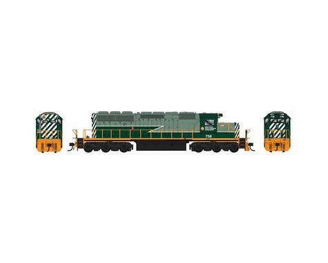 HO SD40 w DCC & Sound BCR Two Tone Green #755