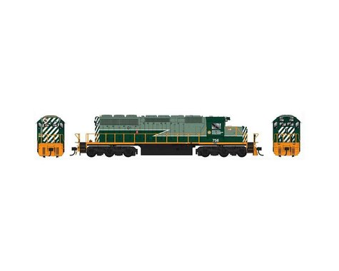 Bowser HO SD40 w DCC & Sound BCR Two Tone Green #760