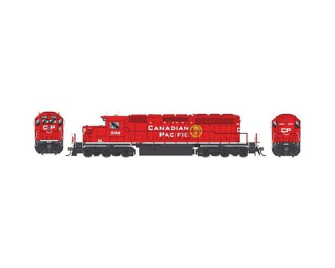 Bowser HO SD40-2, CPR/Block Lettering/SD40-3 #5106