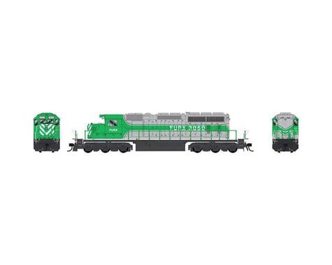 Bowser HO SD40-2 w DCC & Sound FURX Green Silver #3052