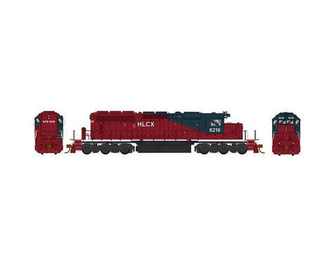 Bowser HO SD40-2 w DCC & Sound HLCX Maroon Blue #6219