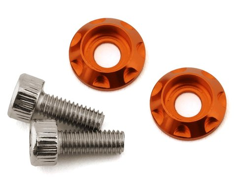 Team Brood M3 Motor Washer Heatsink w/Screws (Orange) (2) (8mm)