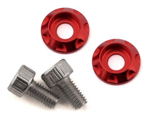 Team Brood M3 Motor Washer Heatsink w/Screws (Red) (2) (6mm)